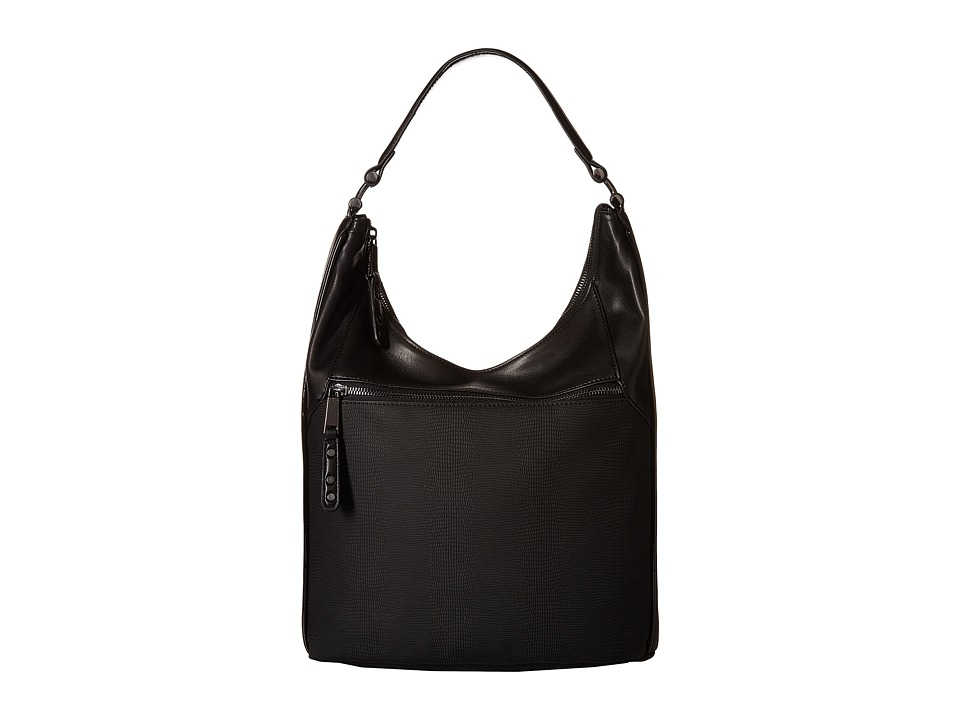 French Connection - Farah - Hobo (Black/Black) Hobo Handbags