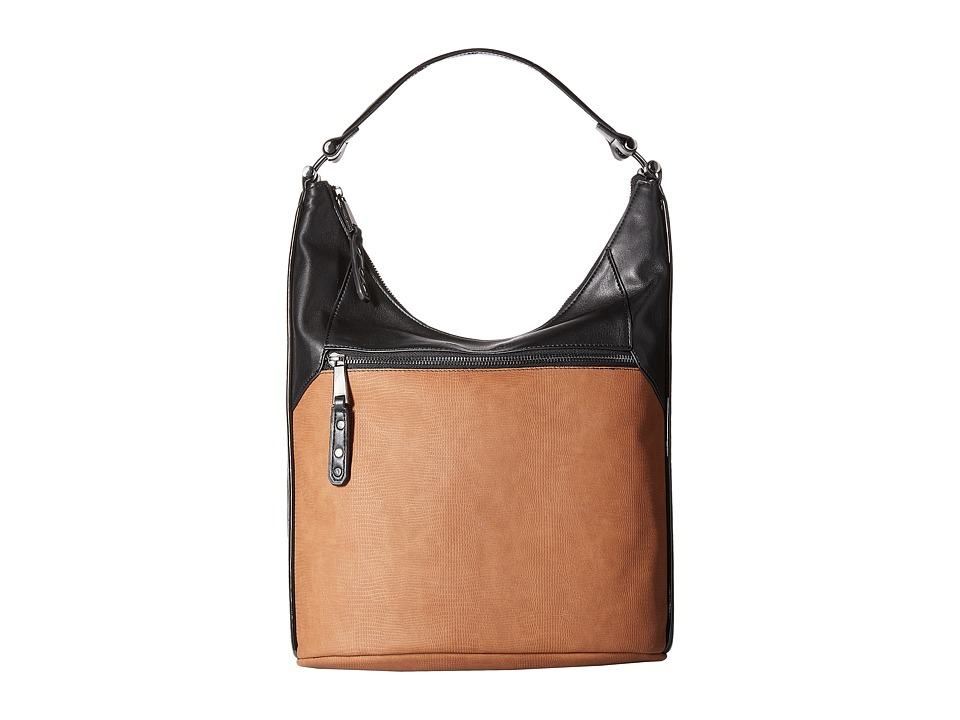 French Connection - Farah - Hobo (Tan/Black) Hobo Handbags