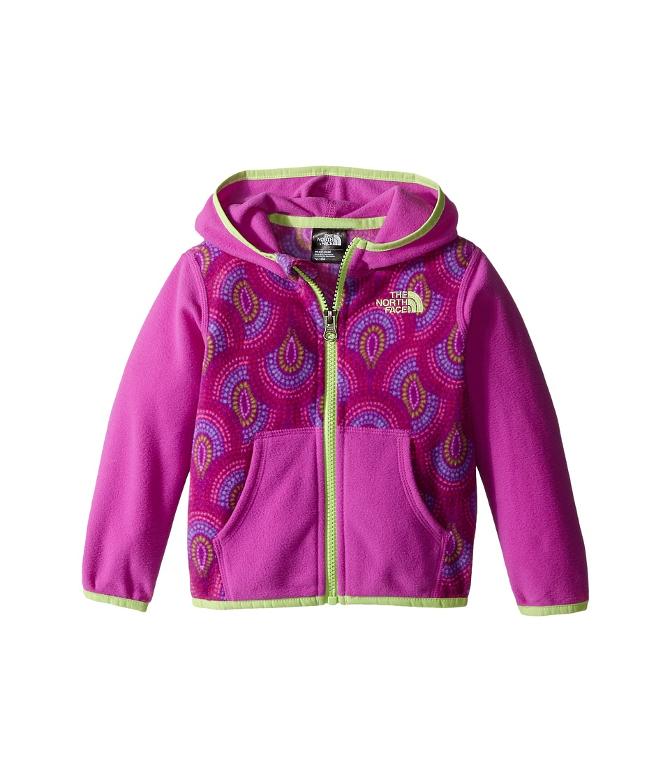 The North Face Kids - Glacier Full Zip Hoodie (Infant) (Sweet Violet Peacock Print) Girl's Sweatshirt