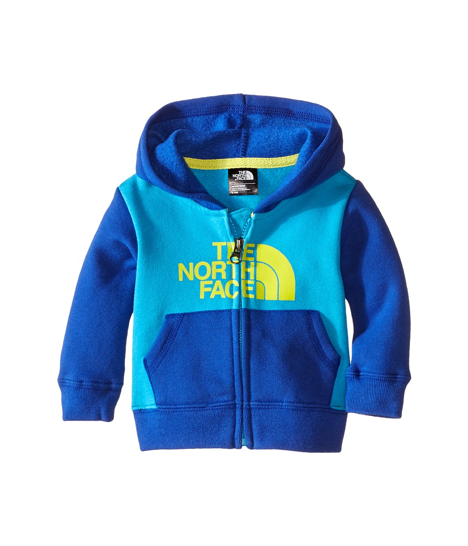 The North Face Kids - Logowear Full Zip Hoodie (Infant) (Meridian Blue) Kid's Sweatshirt