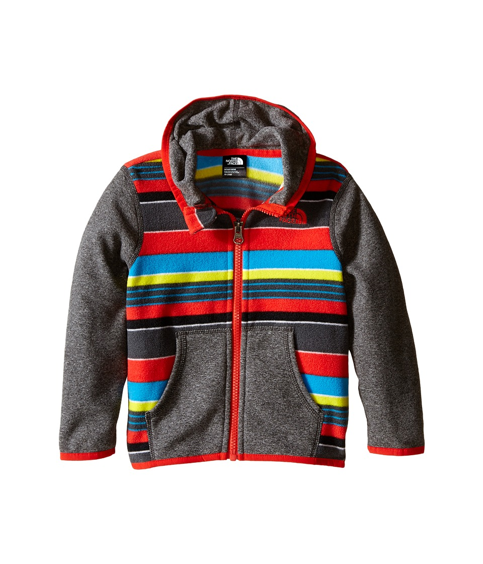 The North Face Kids - Glacier Full Zip Hoodie (Infant) (Asphalt Grey Stripe) Girl's Sweatshirt