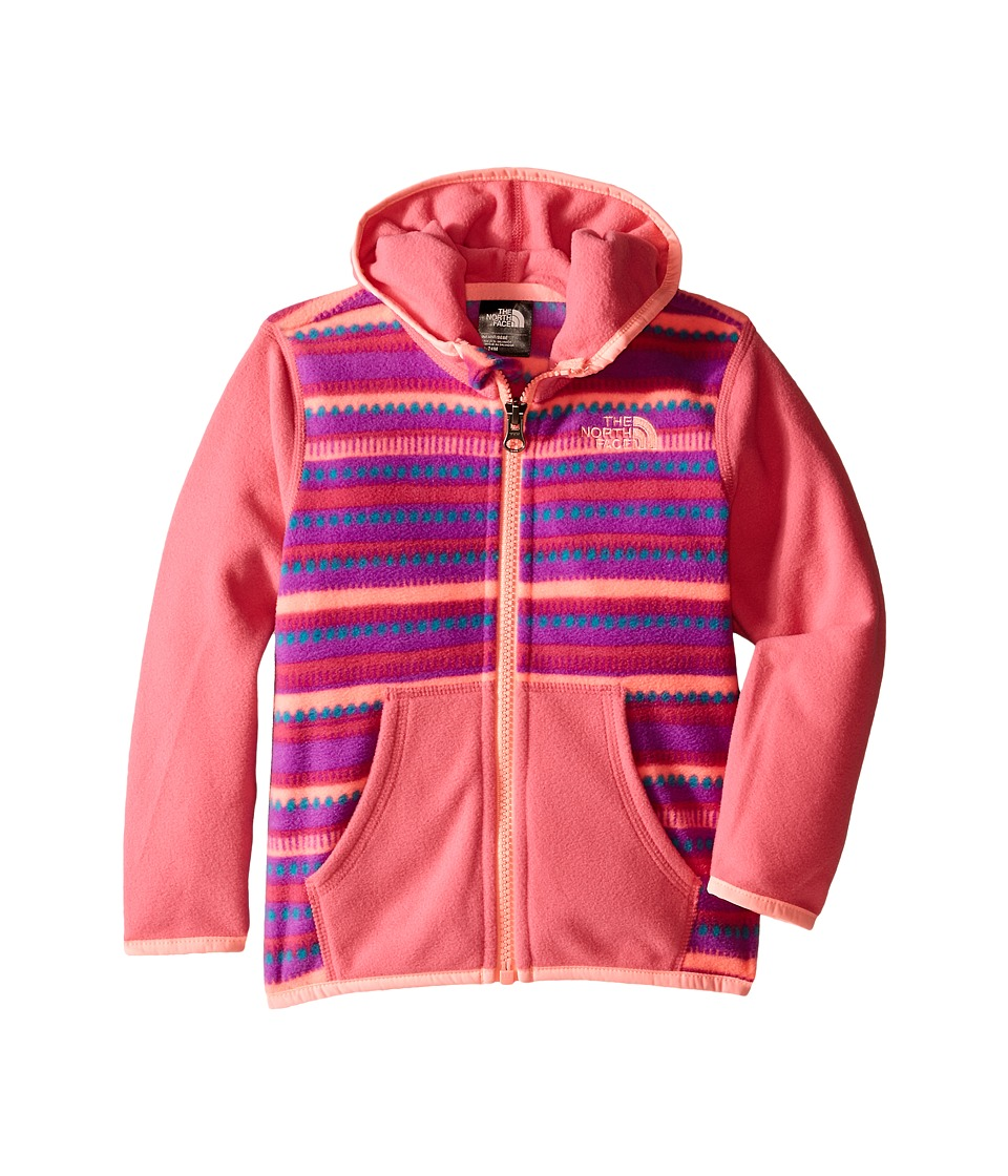 The North Face Kids - Glacier Full Zip Hoodie (Infant) (Cha Cha Pink Stripe) Girl's Sweatshirt