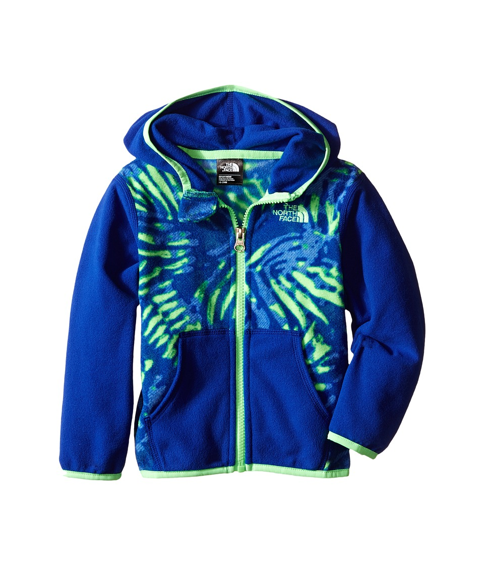 The North Face Kids - Glacier Full Zip Hoodie (Infant) (Electric Mint Green Palm Print) Girl's Sweatshirt