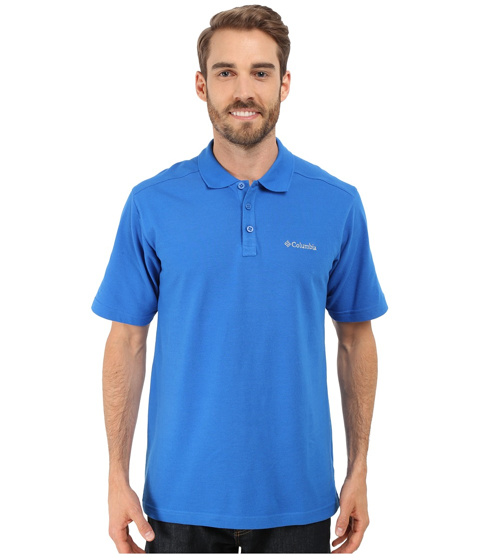 Columbia - Elm Creek Polo (Super Blue) Men's Short Sleeve Knit