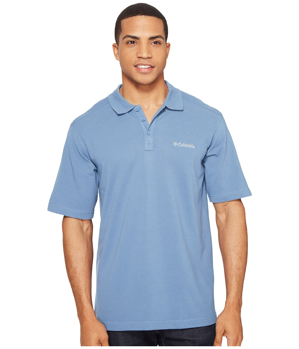 Columbia - Elm Creek Polo (Steel) Men's Short Sleeve Knit