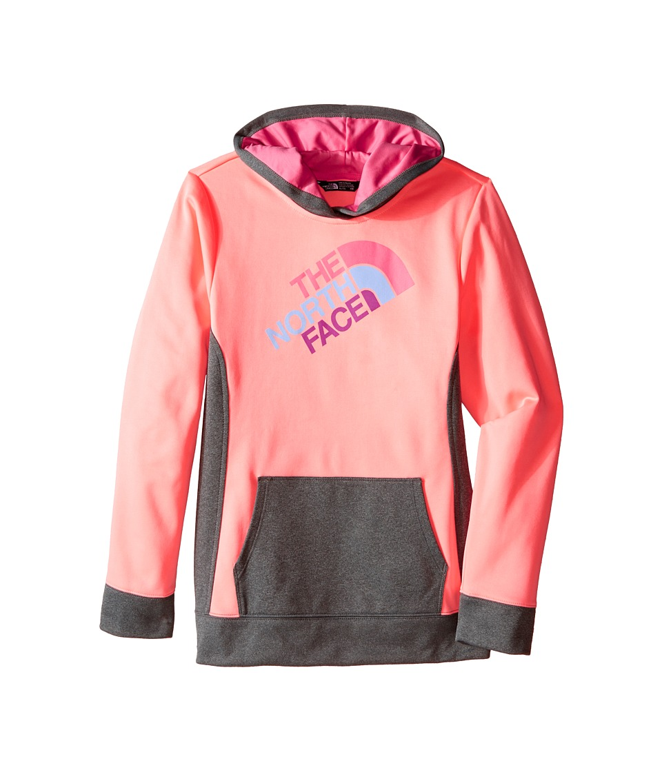 The North Face Kids - Surgent Pullover Hoodie (Little Kids/Big Kids) (Neon Peach) Girl's Sweatshirt