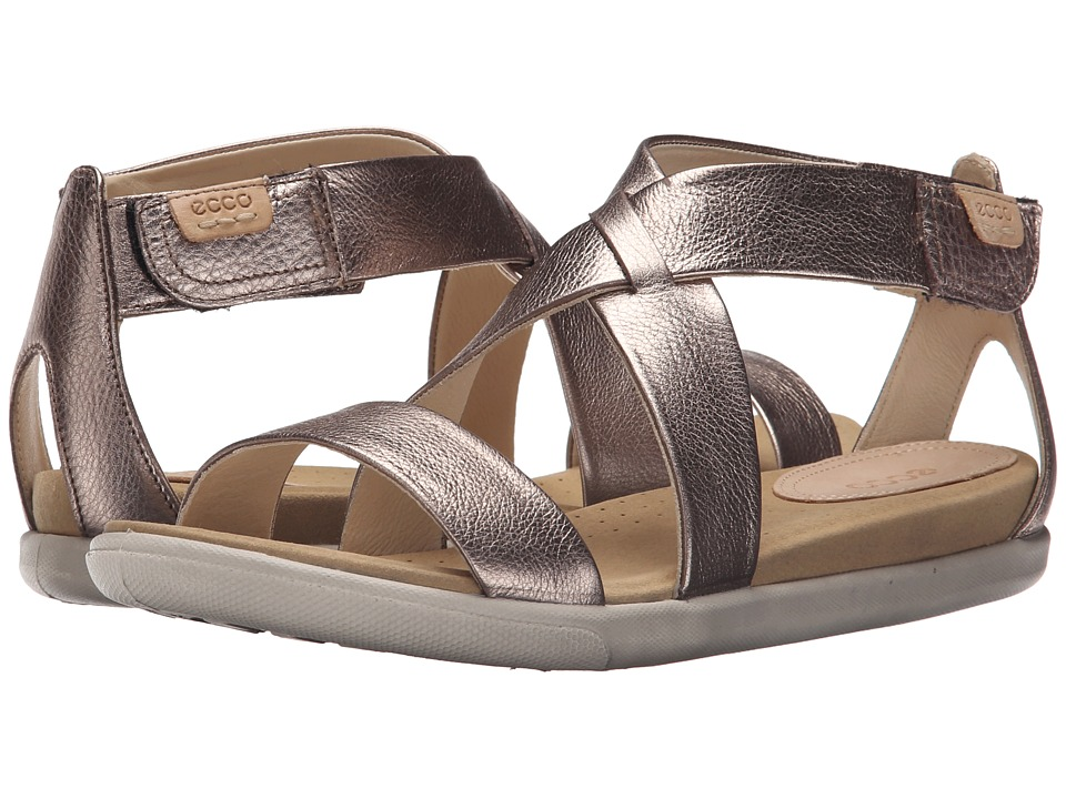 ECCO - Damara Strap Sandal (Warm Grey Metallic) Women's Shoes