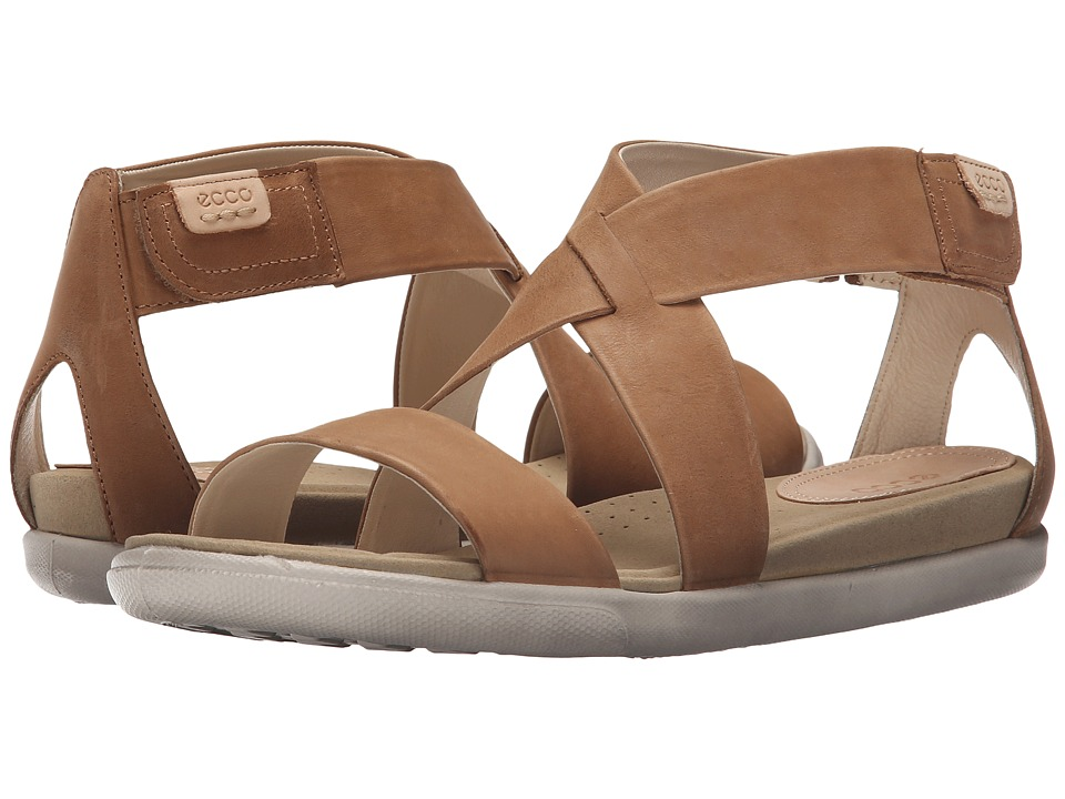 ECCO - Damara Strap Sandal (Camel) Women's Shoes