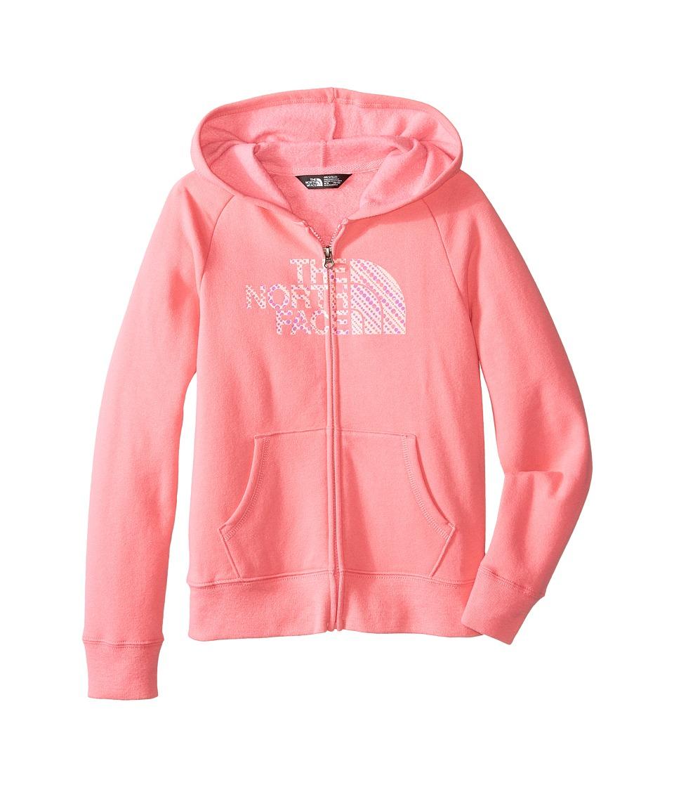 The North Face Kids - Logowear Full Zip Hoodie (Little Kids/Big Kids) (Cha Cha Pink) Girl's Sweatshirt
