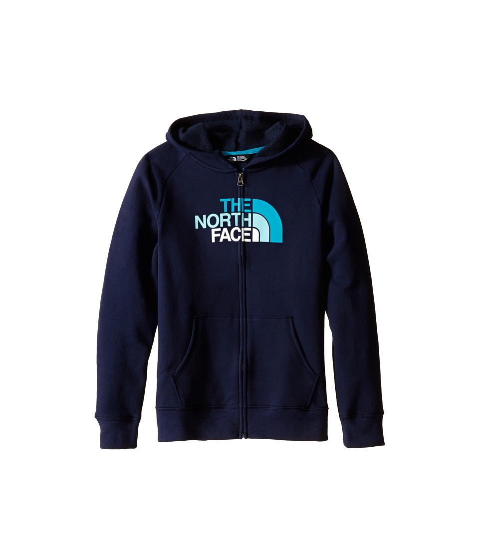 The North Face Kids - Logowear Full Zip Hoodie (Little Kids/Big Kids) (Cosmic Blue) Girl's Sweatshirt