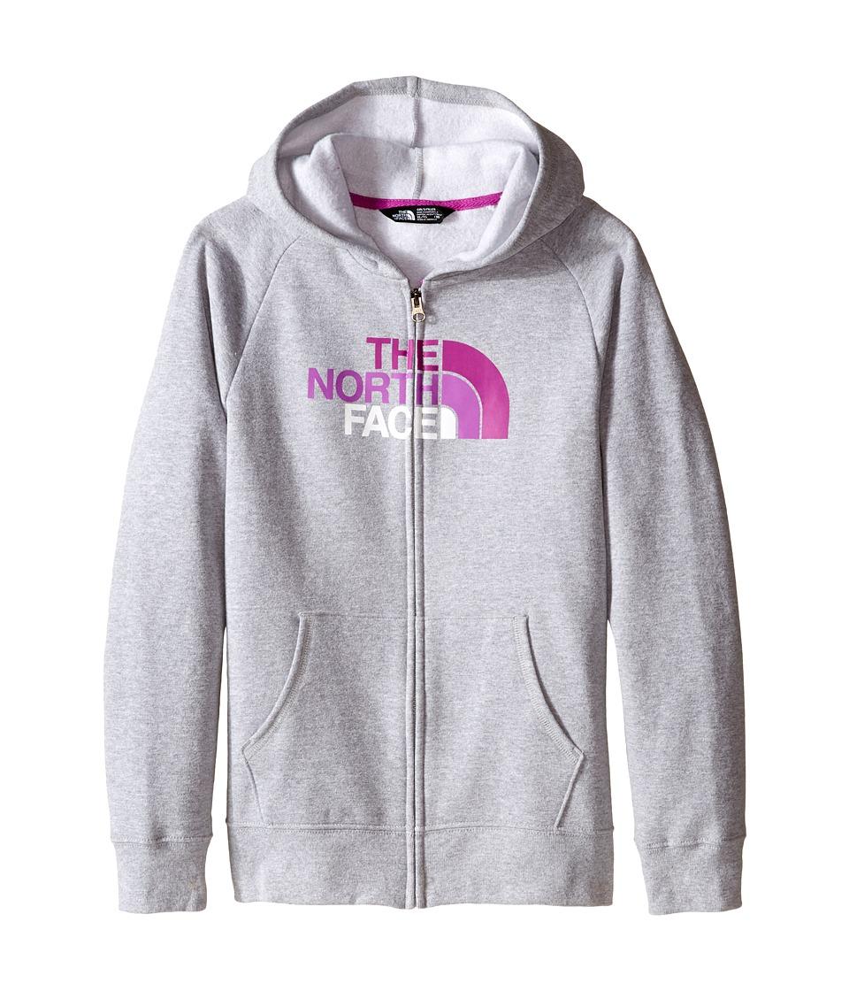 The North Face Kids - Logowear Full Zip Hoodie (Little Kids/Big Kids) (TNF Light Grey Heather) Girl's Sweatshirt