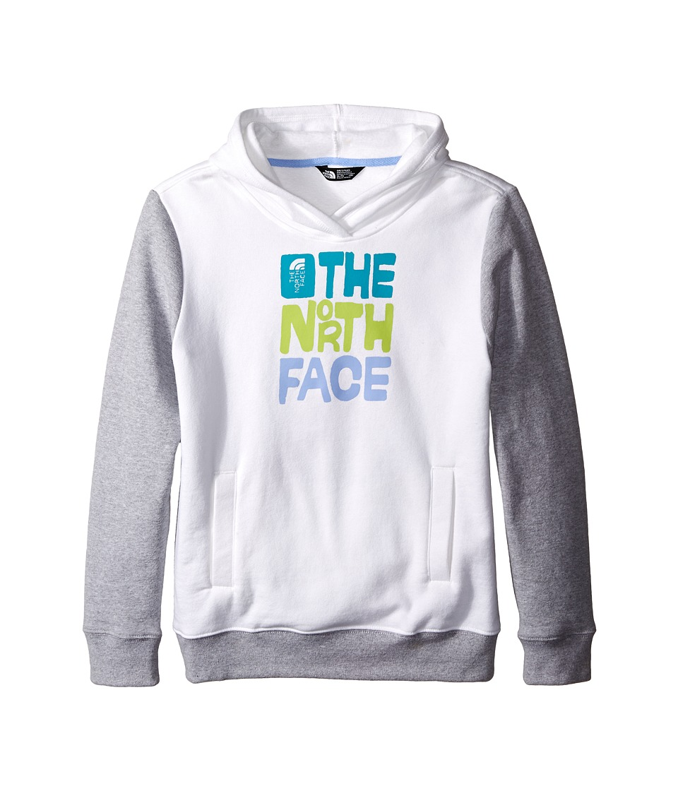 The North Face Kids - Logowear Pullover Hoodie (Little Kids/Big Kids) (TNF White/Heather Grey) Girl's Sweatshirt