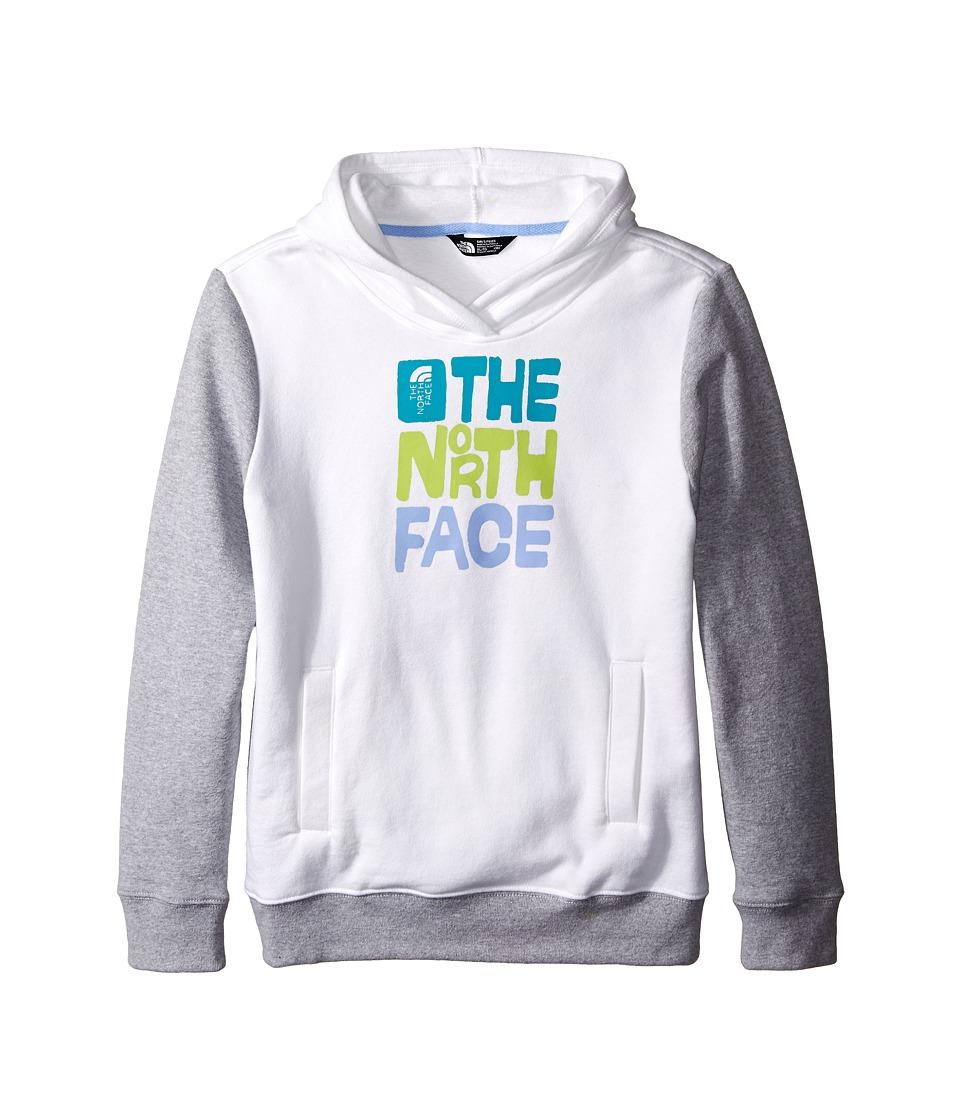 The North Face Kids - Logowear Pullover Hoodie (Little Kids/Big Kids) (TNF White/Heather Grey) Girl's Sweatshirt