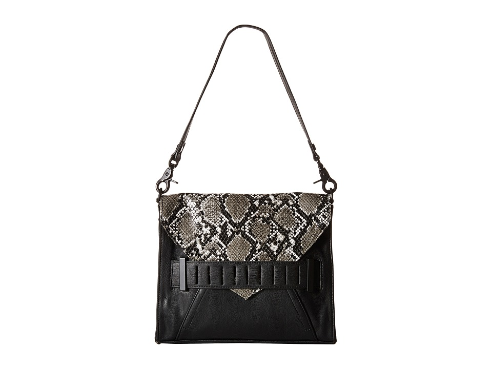 French Connection - Harper - Clutch (Black/White Snake) Clutch Handbags