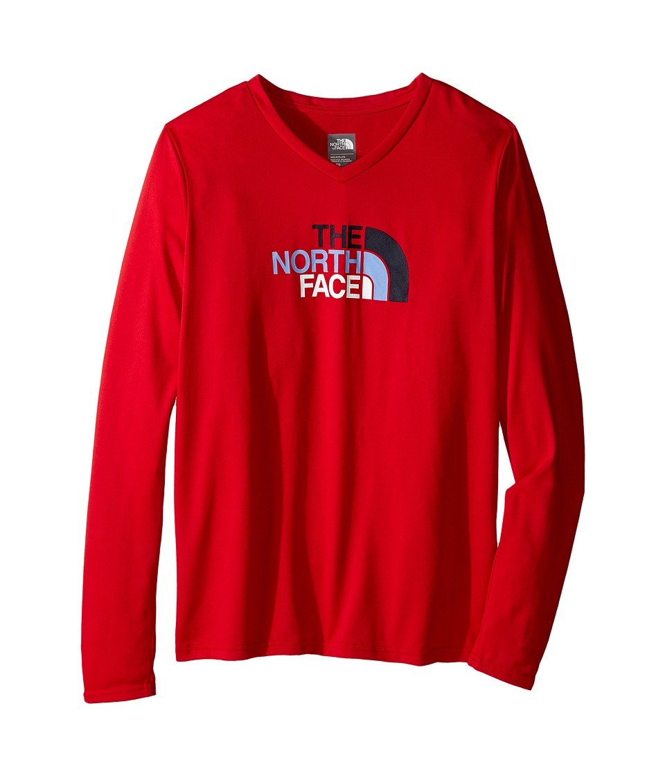 The North Face Kids - Long Sleeve Reaxion Tee (Little Kids/Big Kids) (TNF Red) Girl's Long Sleeve Pullover
