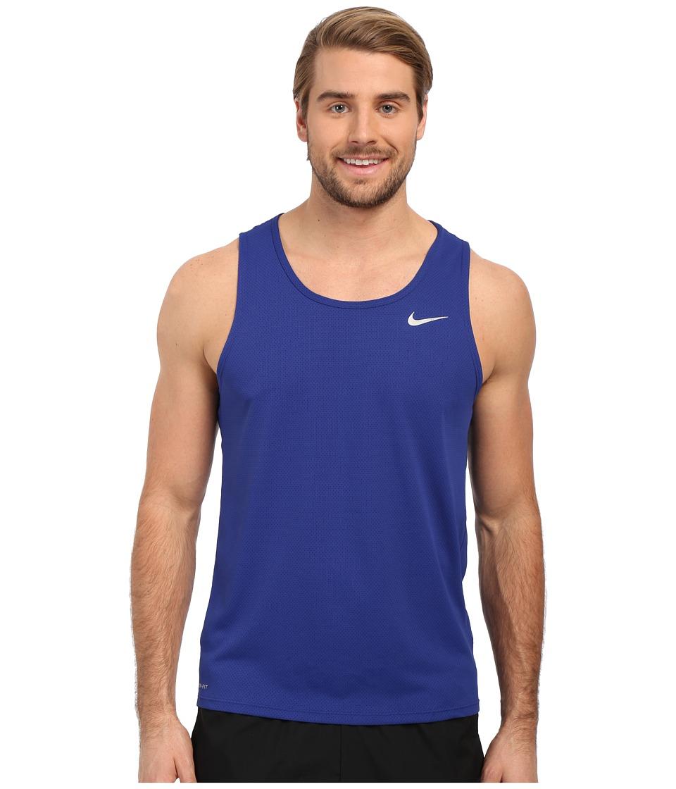 Nike - Dri-FIT Contour Running Singlet (Deep Royal Blue/Reflective Silver) Men's Workout