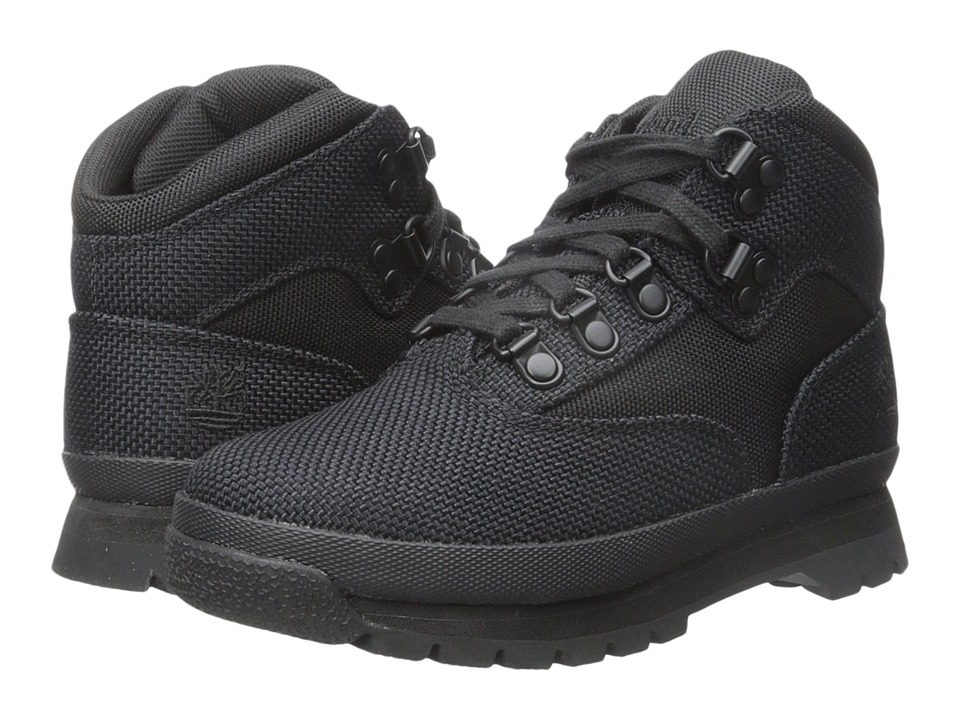 Timberland Kids - Euro Hiker Fabric (Little Kid) (Black) Boy's Shoes