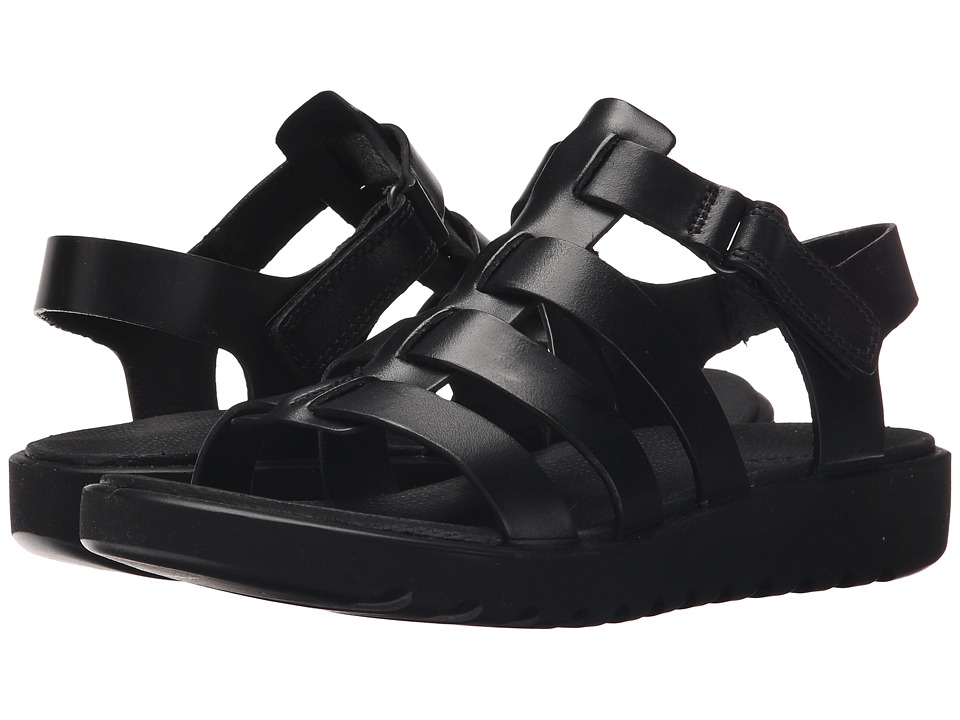 ECCO - Freja Ankle Sandal (Black) Women's Sandals