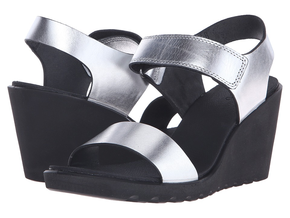 ECCO - Freja Wedge Sandal (Silver Metallic) Women's Wedge Shoes