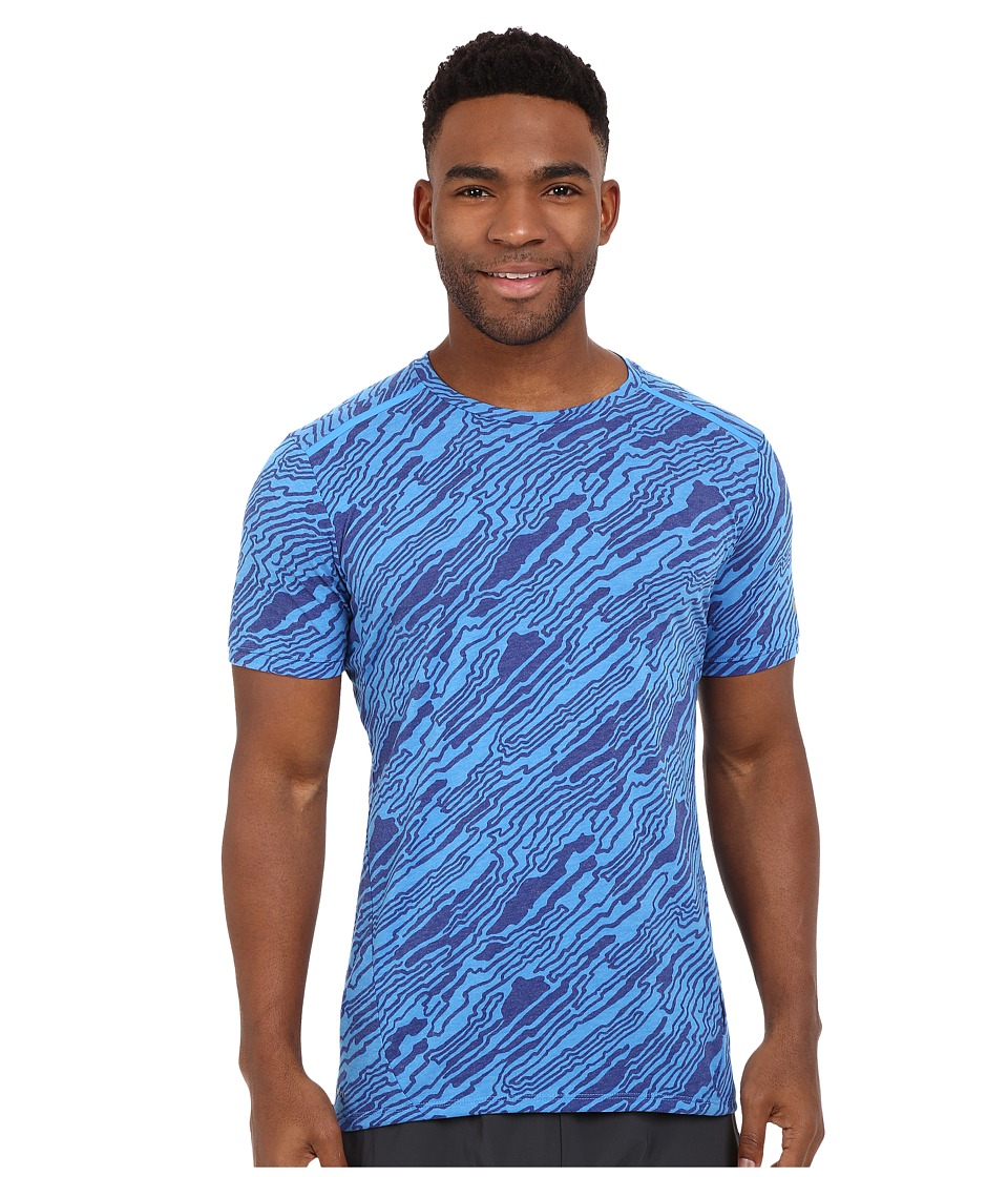 Nike - Dri-FIT Elevate Tailwind Running Shirt (Blue) Men's Short Sleeve Pullover