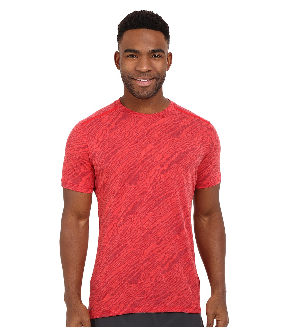 Nike - Dri-FIT Elevate Tailwind Running Shirt (Red) Men's Short Sleeve Pullover