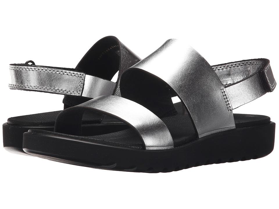 ECCO Freja 2 Strap Sandal (Silver Metallic) Women