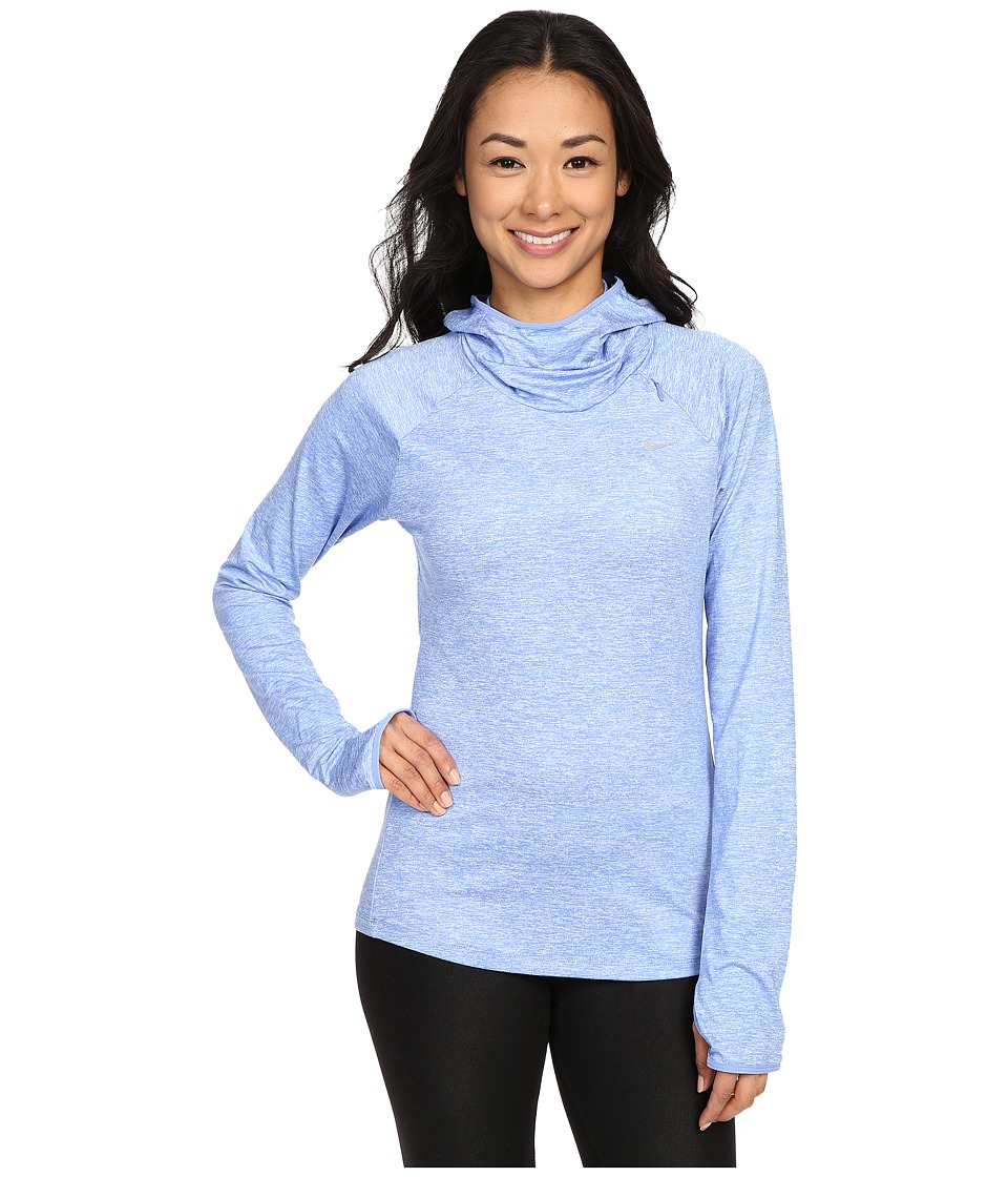 Nike - Dry Element Running Hoodie (Chalk Blue/Heather/Reflective Silver) Women's Sweatshirt