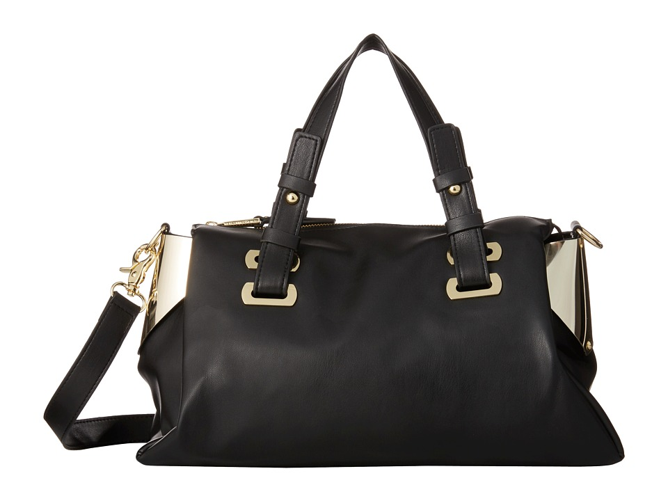 French Connection - Nixon - Satchel (Black/Gold) Satchel Handbags