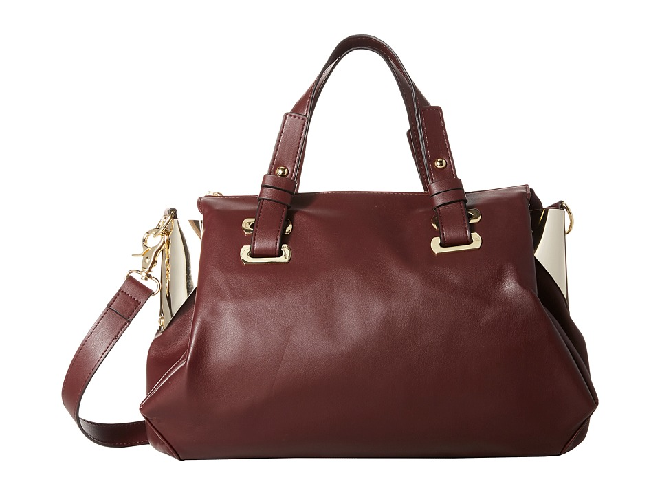 French Connection - Nixon - Satchel (Biker Berry/Gold) Satchel Handbags