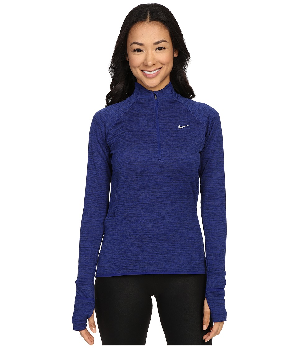 Nike - Element Sphere 1/2 Zip (Deep Royal Blue/Heather/Reflective Silver) Women's Clothing
