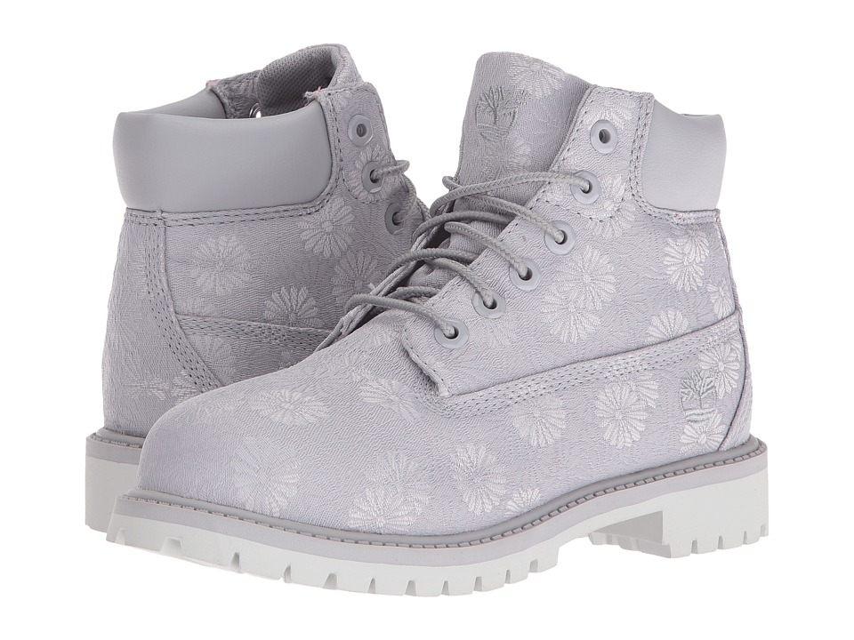 Timberland Kids - 6 in Premium Waterproof Fabric Boot (Little Kid) (Sleet Floral Jacquard) Girls Shoes
