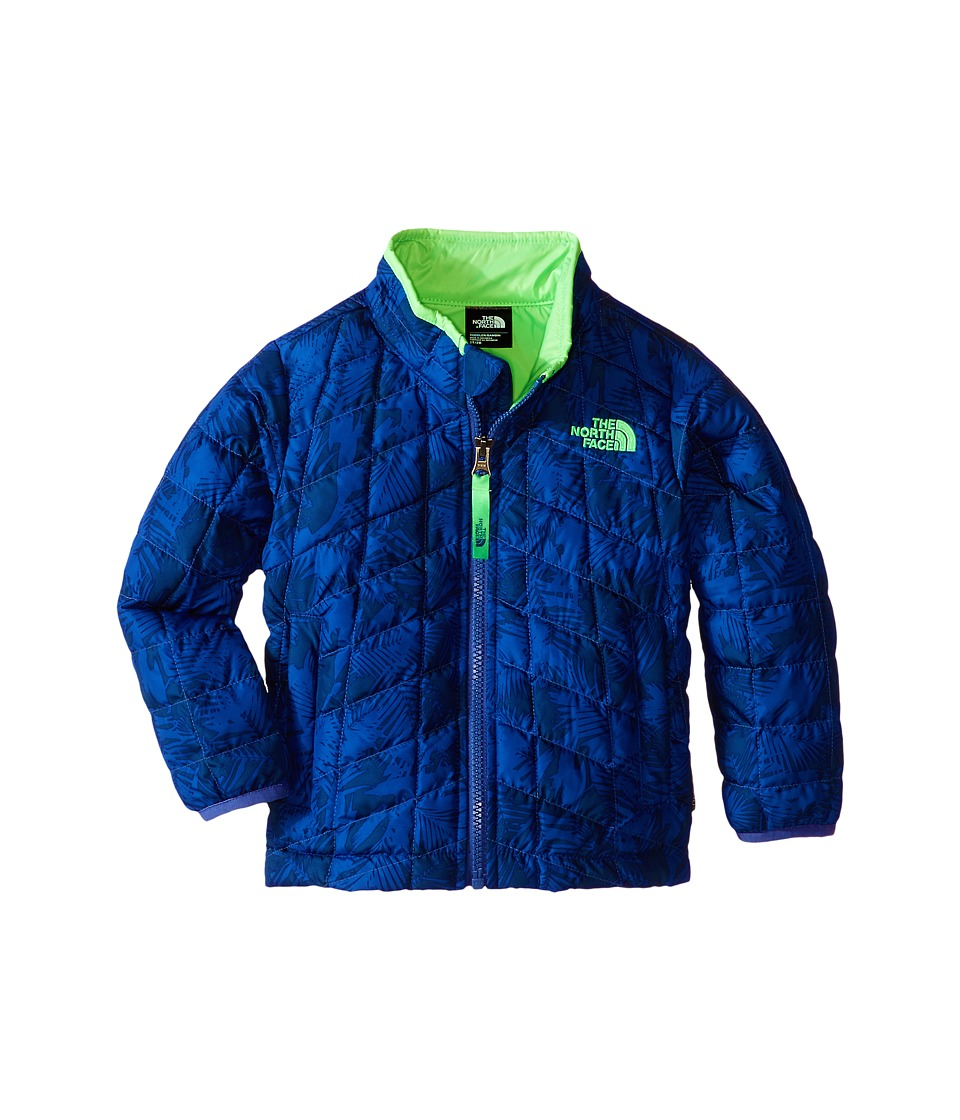 The North Face Kids - Thermoball Jacket (Toddler) (Pelagic Blue Abstract Palm Print) Boy's Coat