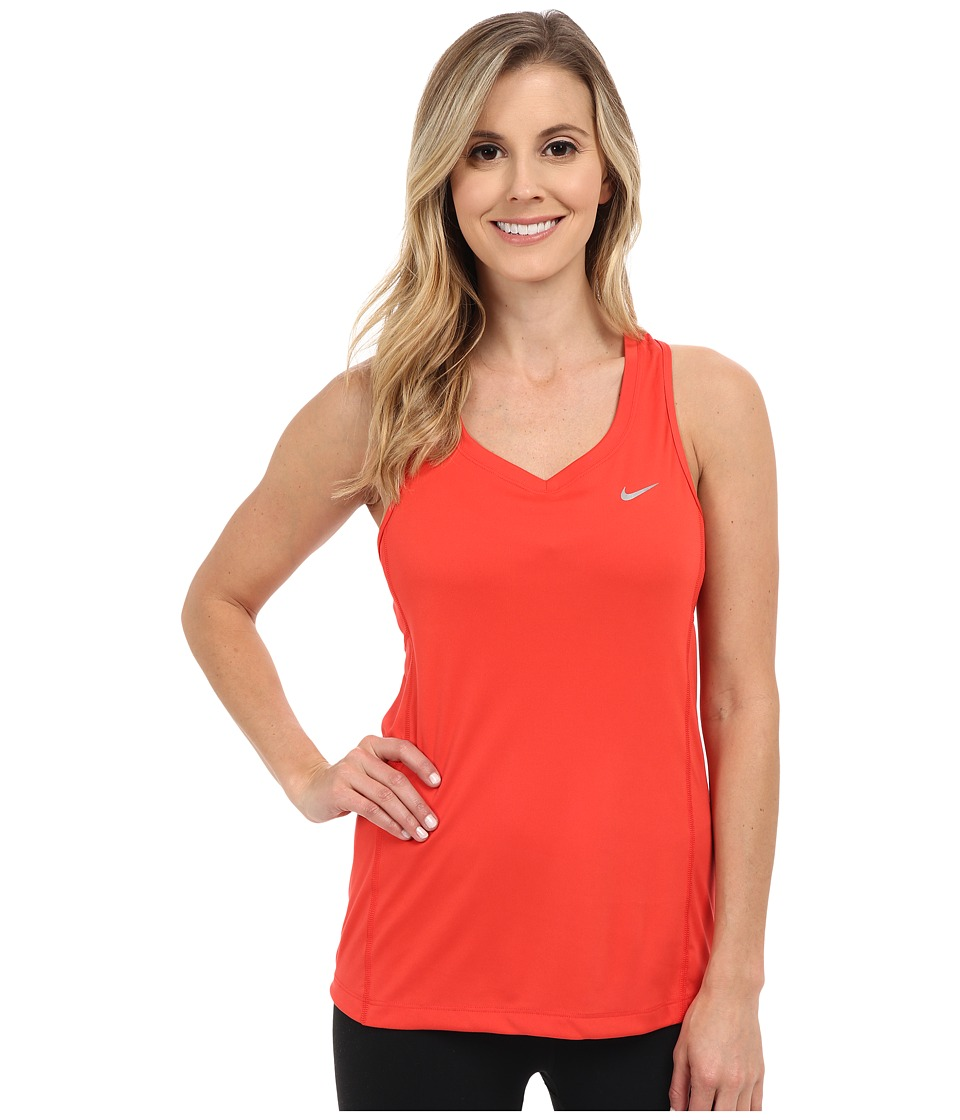 Nike - Dri-FIT Miler Tank Top (Light Crimson/Reflective Silver) Women's Sleeveless