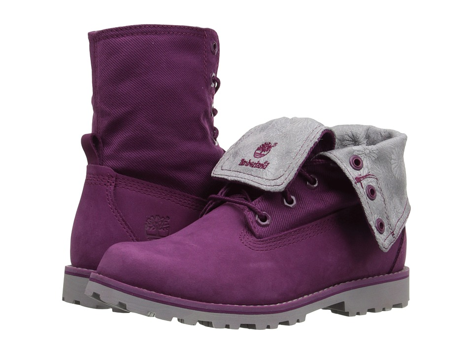 Timberland Kids - Authentics Fabric Fold Down (Little Kid) (Magenta Purple) Girl