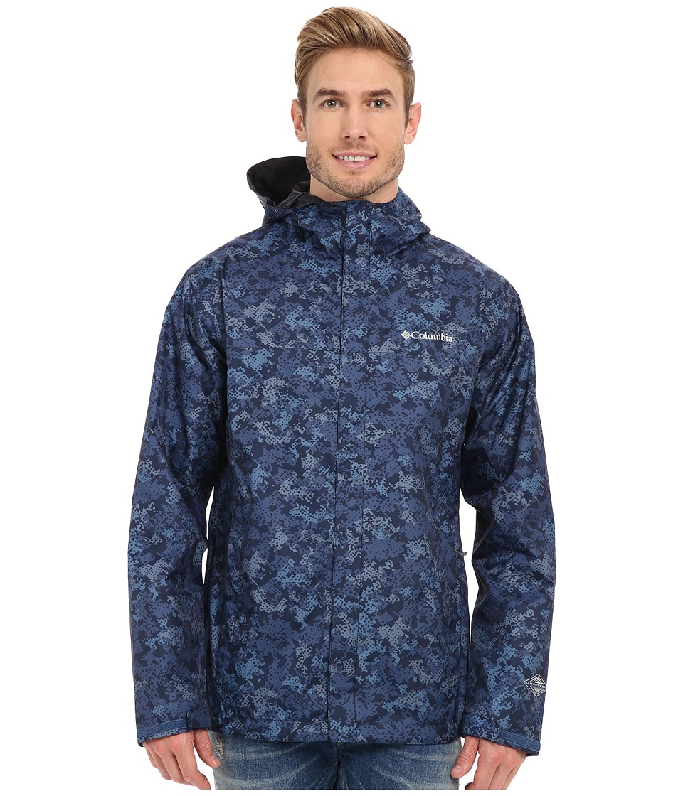 Columbia - Watertight Printed Jacket (Night Tide Digital Camo) Men's Coat