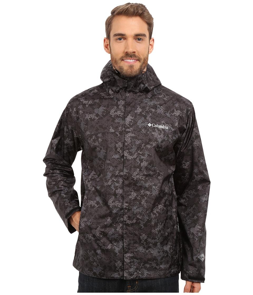 Columbia Watertight Printed Jacket (Black Digital Camo) Men