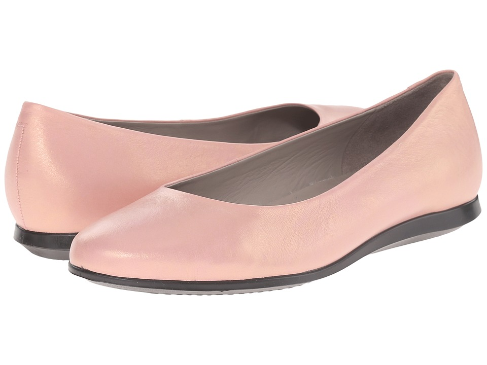 ECCO - Touch Ballerina 2.0 (Silver Pink) Women's Slip on Shoes