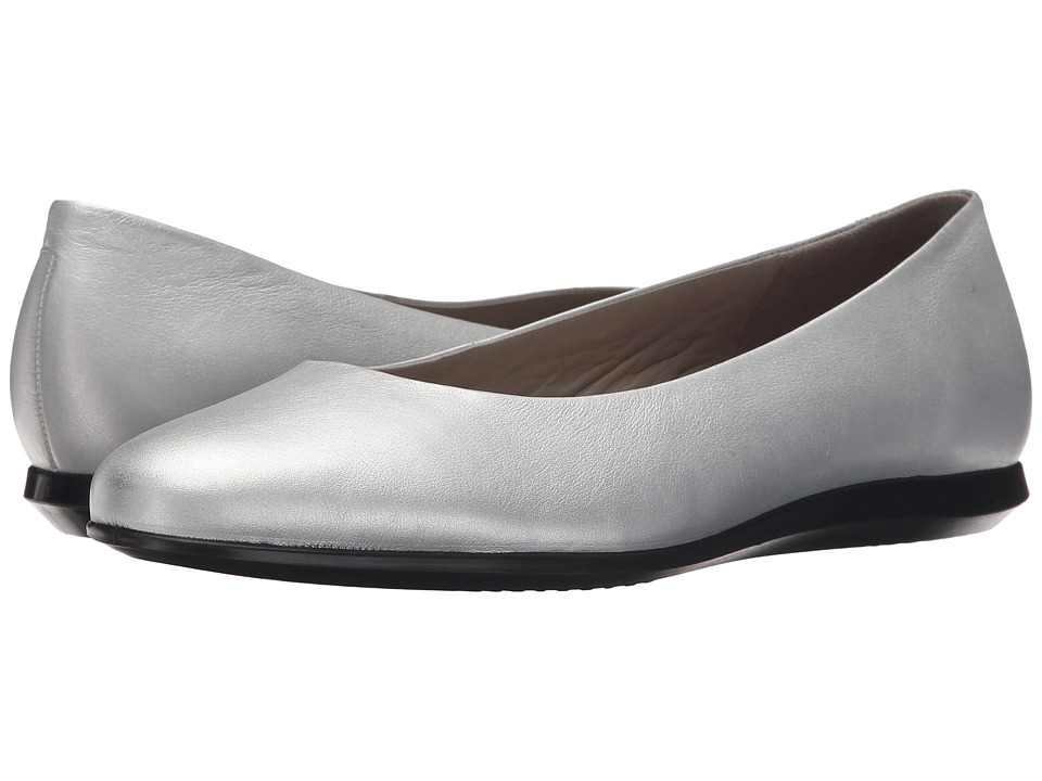 ECCO - Touch Ballerina 2.0 (Silver) Women's Slip on Shoes