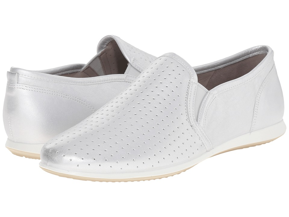 ECCO - Touch Sneaker Slip-On (Silver) Women's Slip on Shoes