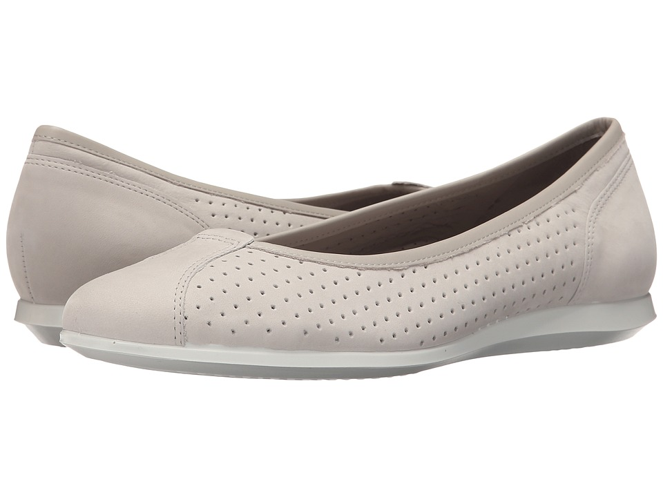 ECCO - Touch Ballerina 2.0 Perf (Gravel/Gravel) Women's Slip on Shoes