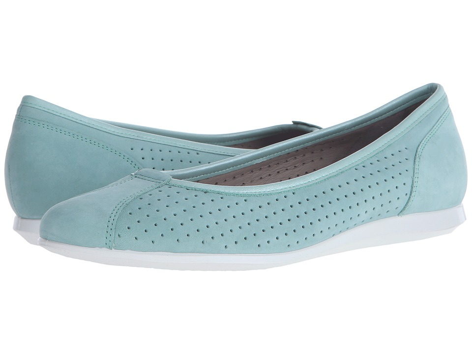 ECCO - Touch Ballerina 2.0 Perf (Granite Green/Granite Green) Women's Slip on Shoes