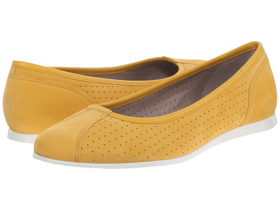 ECCO - Touch Ballerina 2.0 Perf (Saffron/Saffron) Women's Slip on Shoes