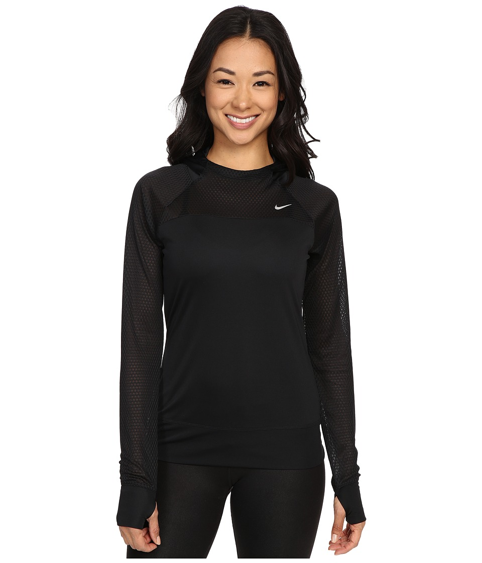 Nike Run Fast Hoodie (Black/Reflective Silver) Women