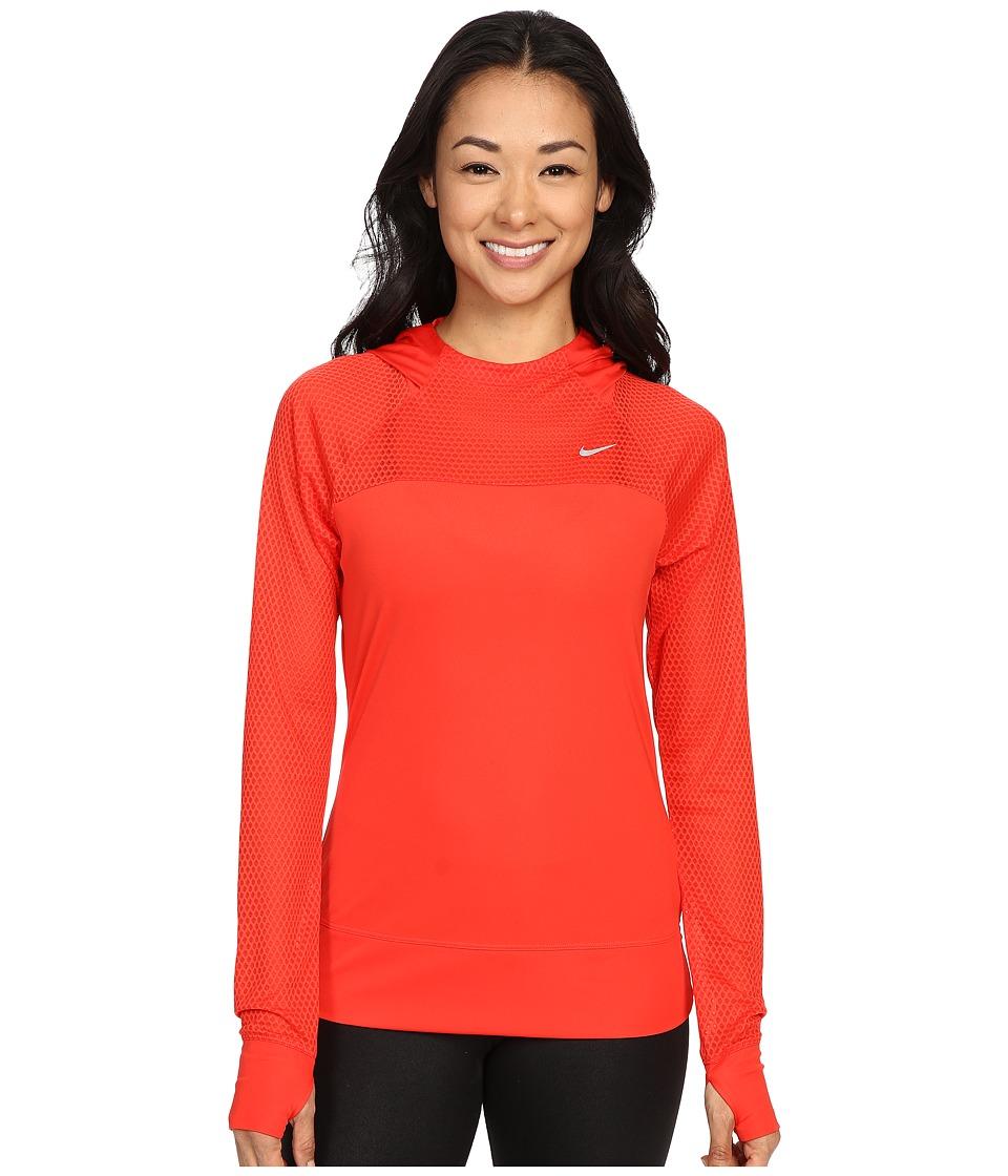 Nike - Run Fast Hoodie (Light Crimson/Reflective Silver) Women's Sweatshirt