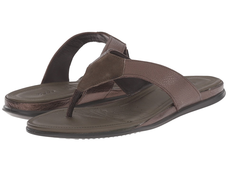 ECCO - Touch Thong (Licorice Metallic/Tarmac) Women's Sandals