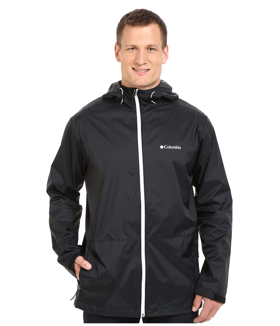 Columbia - Big Tall Roan Mountain Jacket (Black/White Zip) Men's Coat