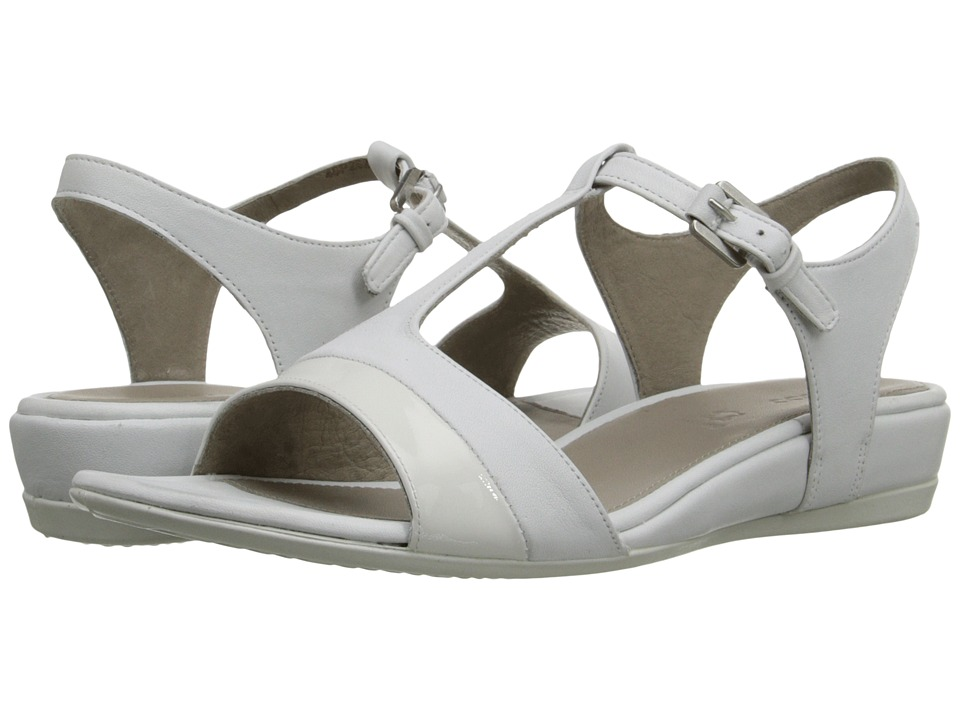 ECCO - Touch 25 Strap Sandal (White/White) Women's Shoes