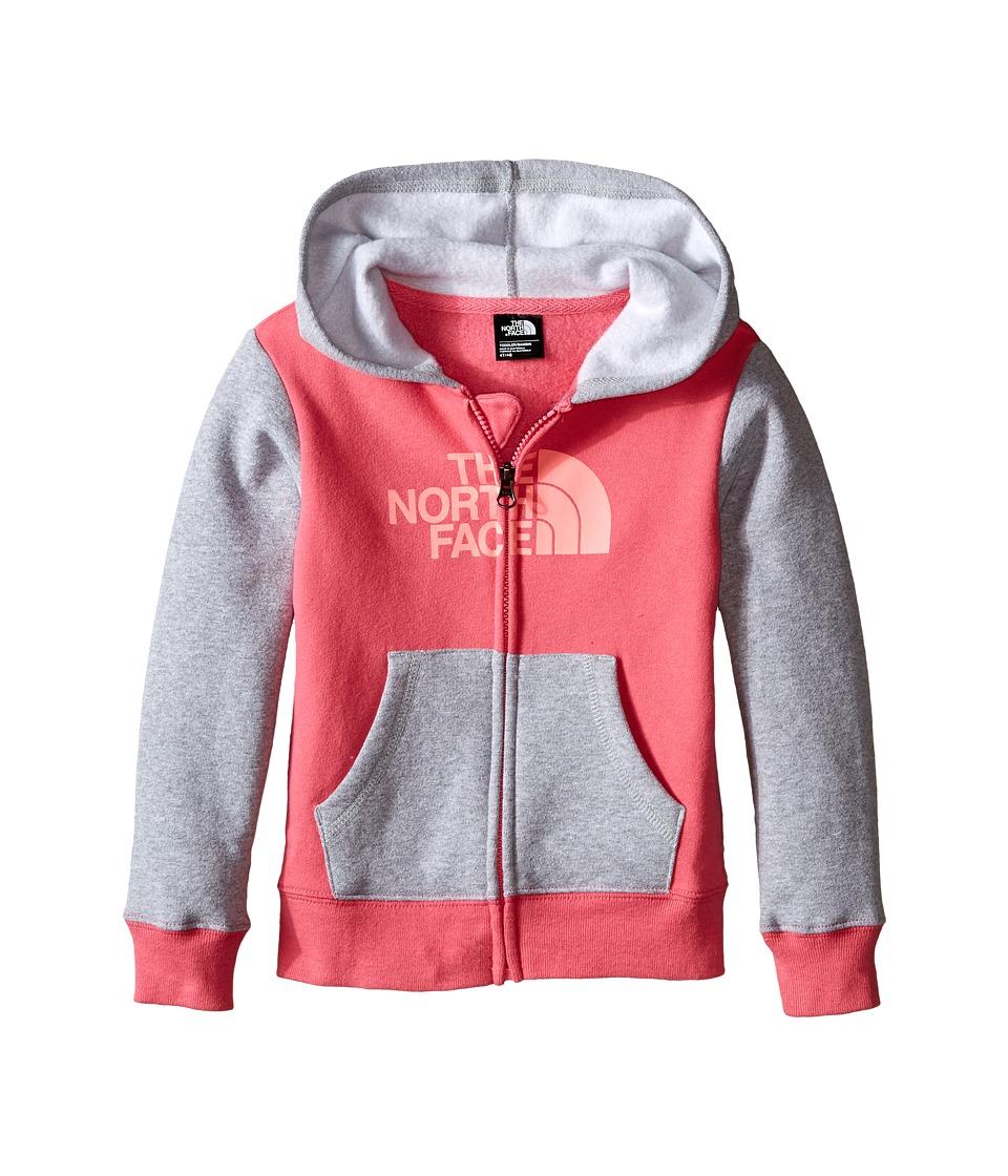 The North Face Kids - Logowear Full Zip Hoodie (Toddler) (Cha Cha Pink) Boy's Sweatshirt