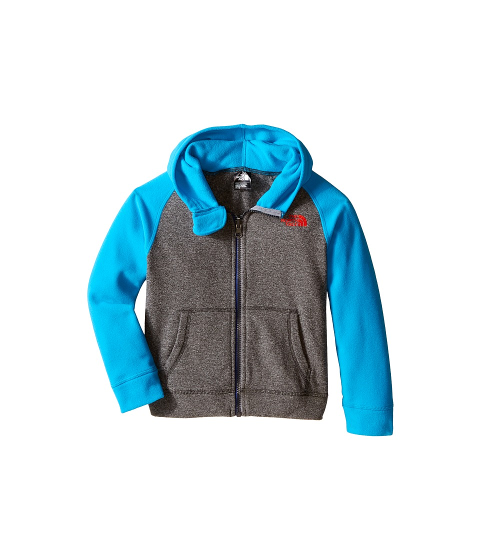 The North Face Kids - Glacier Full Zip Hoodie (Toddler) (TNF Medium Grey Heather) Boy's Sweatshirt