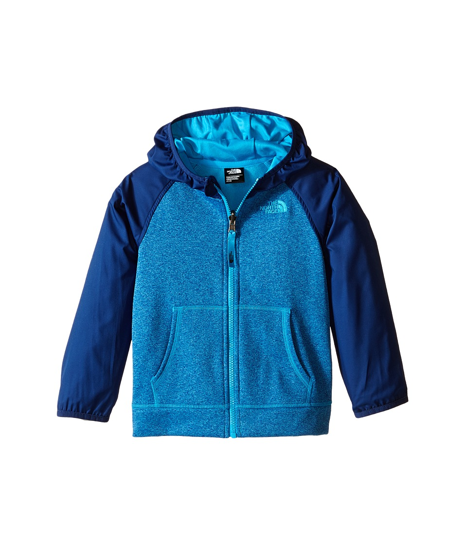 The North Face Kids - Canyonlands Track Hoodie (Toddler) (Meridian Blue Heather) Boy's Sweatshirt